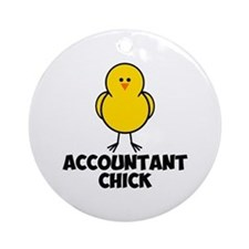 Accountant Chick Ornament (Round)