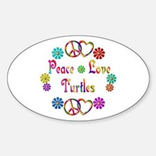 Peace Love Turtles Decal