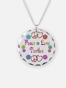 Peace Love Turtles Necklace