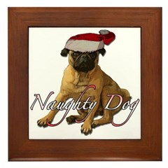 Naughty dog 3 Framed Tile