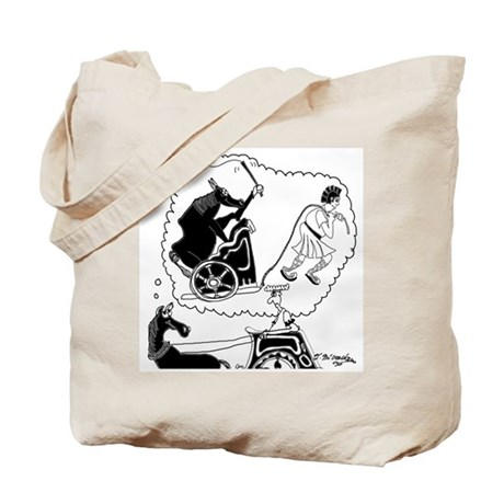 Gladiator Pulls a Chariot Tote Bag