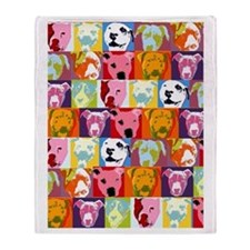 Pop Art Pit Bulls Blanket