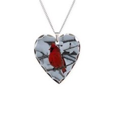Snow Cardinal Necklace