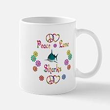Peace Love Sharks Mug