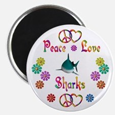"Peace Love Sharks 2.25"" Magnet (10 pack)"