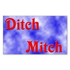 Ditch Mitch Rectangle Decal