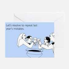 Last Year's Mistakes Greeting Cards (Pk of 10)