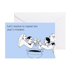 Last Year's Mistakes Greeting Card