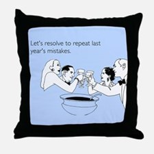 Last Year's Mistakes Throw Pillow
