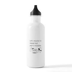 Last Year's Mistakes Water Bottle