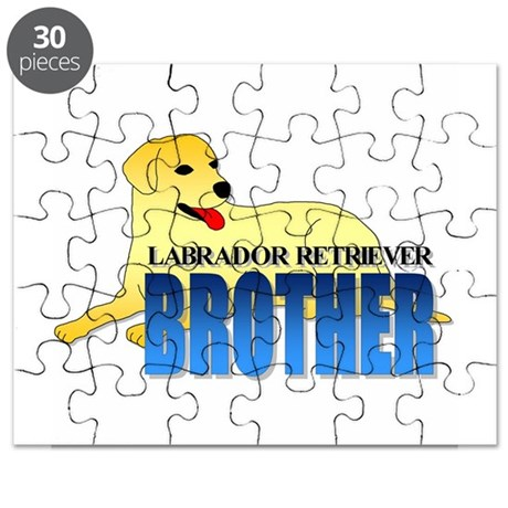 Yellow Labrador Retriever Brother Puzzle