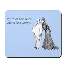 Weight Loss Resolution Mousepad
