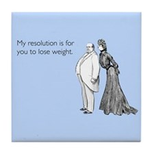 Weight Loss Resolution Tile Coaster
