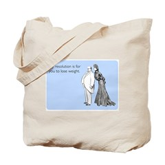 Weight Loss Resolution Tote Bag