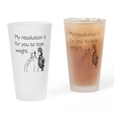 Weight Loss Resolution Drinking Glass