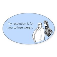 Weight Loss Resolution Decal