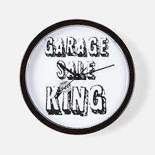Garage Sale King Wall Clock