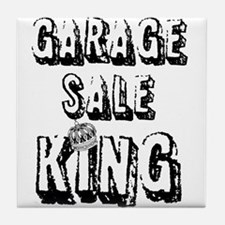 Garage Sale King Tile Coaster