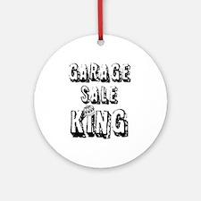 Garage Sale King Ornament (Round)