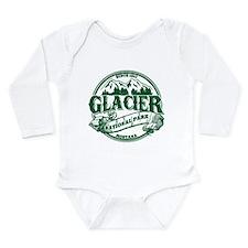 Glacier Old Circle Long Sleeve Infant Bodysuit
