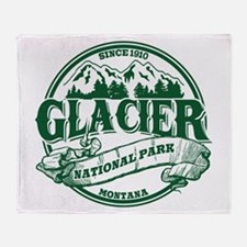 Glacier Old Circle Throw Blanket