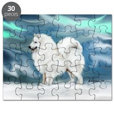 Samoyed and Northern Lights Puzzle