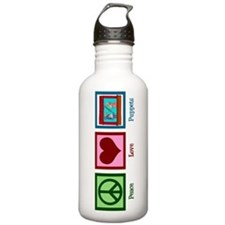 Peace Love Puppets Water Bottle