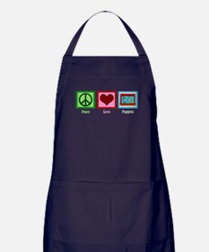 Peace Love Puppets Apron (dark)