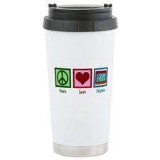 Peace Love Puppets Stainless Steel Travel Mug