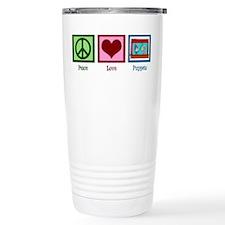 Peace Love Puppets Travel Mug