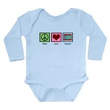 Peace Love Puppets Long Sleeve Infant Bodysuit