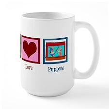 Peace Love Puppets Coffee Mug