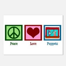 Peace Love Puppets Postcards (Package of 8)