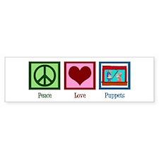 Peace Love Puppets Bumper Sticker