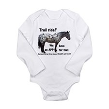 Trail Ride App Long Sleeve Infant Bodysuit