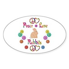 Peace Love Rabbits Decal