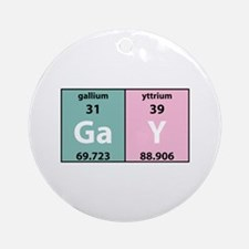 Chemistry Gay Ornament (Round)