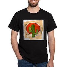 Cactus102 Black T-Shirt