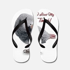 African Grey Parrot Holiday Flip Flops