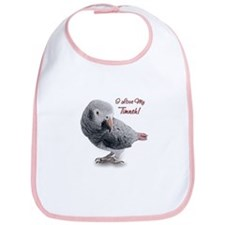 African Grey Parrot Holiday Bib