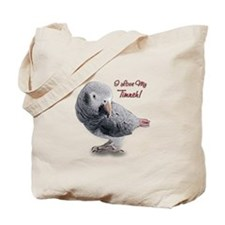 African Grey Parrot Holiday Tote Bag