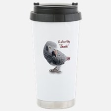 African Grey Parrot Holiday Travel Mug