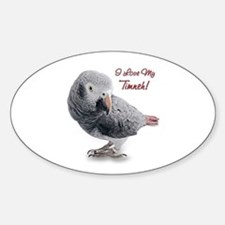 African Grey Parrot Holiday Decal