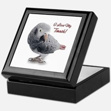 African Grey Parrot Holiday Keepsake Box