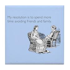 Avoiding Friends & Family Tile Coaster