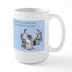 Avoiding Friends & Family Large Mug