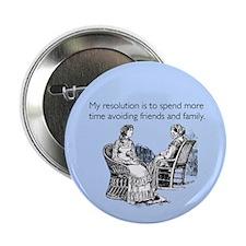 "Avoiding Friends & Family 2.25"" Button"