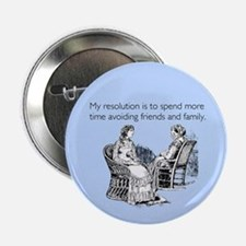 "Avoiding Friends & Family 2.25"" Button"
