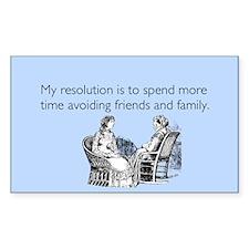 Avoiding Friends & Family Sticker (Rectangle)