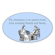 Avoiding Friends & Family Decal